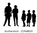 vector of students congregating ... | Shutterstock .eps vector #21968824