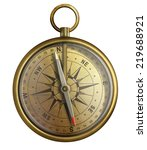 old brass compass  realistic... | Shutterstock . vector #219688921