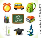 realistic back to school... | Shutterstock . vector #219694477