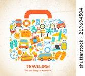 travel holiday vacation... | Shutterstock . vector #219694504