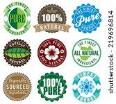 set of vector vintage labels... | Shutterstock .eps vector #219696814