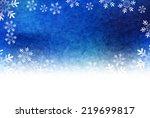 christmas snow background | Shutterstock .eps vector #219699817