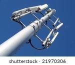 Gsm Antenna Against Blue Sky