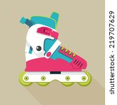 roller skates icon | Shutterstock .eps vector #219707629