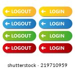 vector color button log in log... | Shutterstock .eps vector #219710959
