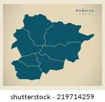 modern map   andorra with... | Shutterstock .eps vector #219714259