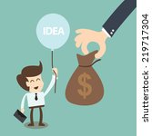 crowd funding and  investors... | Shutterstock .eps vector #219717304