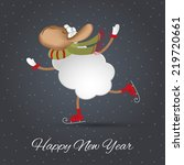new years greeting card. vector ...   Shutterstock .eps vector #219720661