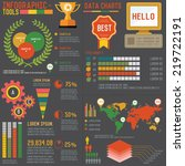 business info graphic and big... | Shutterstock .eps vector #219722191