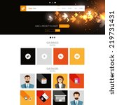 editable website template. tech ...