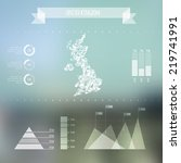 abstract uk map with... | Shutterstock .eps vector #219741991