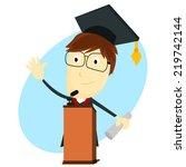graduation speech   Shutterstock .eps vector #219742144