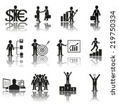 business icons  management and... | Shutterstock .eps vector #219750334
