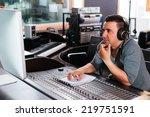 Hispanic Sound Engineer Workin...