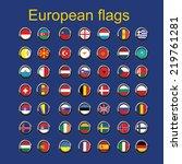 illustration of european... | Shutterstock .eps vector #219761281