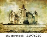 fairy Saumur castle (from my castles series) - stock photo