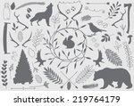 forest elements. part 1 | Shutterstock .eps vector #219764179