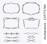 frames borders design set | Shutterstock .eps vector #219771784