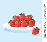 Illustration Of Strawberries O...