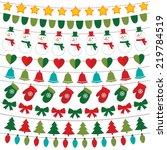 christmas decoration vector set | Shutterstock .eps vector #219784519