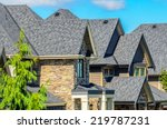 the roof of the house with nice ... | Shutterstock . vector #219787231