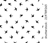 Flying Birds Silhouette Black...