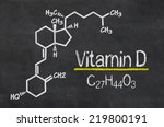 blackboard with the chemical... | Shutterstock . vector #219800191