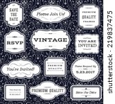 vintage frames on damask... | Shutterstock .eps vector #219837475