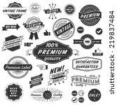 vintage copyspace design... | Shutterstock .eps vector #219837484