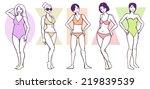 Постер, плакат: Set of Female Body