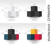 infographic template 4 styles | Shutterstock .eps vector #219866404