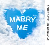 Marry Me Word Nature On Blue...