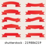 red ribbon banner set .vector... | Shutterstock .eps vector #219886219