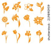 flower icons   gradient free... | Shutterstock .eps vector #219890959