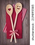 Two Wooden Cooking Spoons On A...