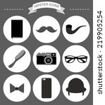 Vector Hipster Icons Set With...
