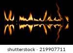 fire abstract and flames shapes ...   Shutterstock . vector #219907711