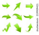 arrow icon set. vector | Shutterstock .eps vector #219909421