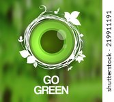eco green eye. eco friendly...