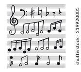 music notes set | Shutterstock .eps vector #219920005