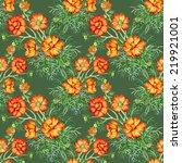 wild flowers seamless pattern...   Shutterstock .eps vector #219921001