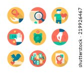 flat icons collection of... | Shutterstock .eps vector #219926467