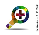 zoom in colorful vector icon... | Shutterstock .eps vector #219929041