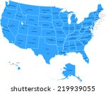 usa map with states and capital ... | Shutterstock .eps vector #219939055