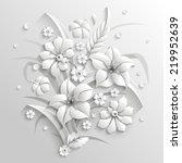 bouquet of fantastic white... | Shutterstock .eps vector #219952639