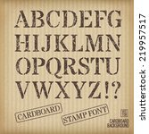 alphabet old stamp style on... | Shutterstock .eps vector #219957517
