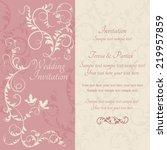 antique baroque wedding ornate... | Shutterstock .eps vector #219957859