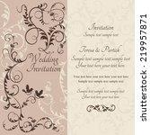 antique baroque wedding ornate... | Shutterstock .eps vector #219957871