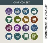 cart icon set | Shutterstock .eps vector #219965239