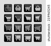 cart icon set | Shutterstock .eps vector #219965245